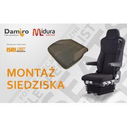 Montaż siedziska fotela kierowcy ISRI - naprawa fotela