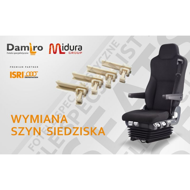 Wymiana szyn siedziska w fotelu kierowcy marki ISRI- naprawa foteli